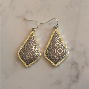 Kendra Scott Gold and Silver Pendant Earrings